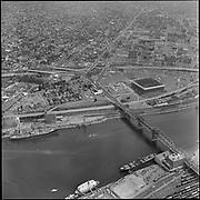 """August 1, 1968"" Portland Aerials (Willamette bank north of Broadway bridge, Crown Mills)"