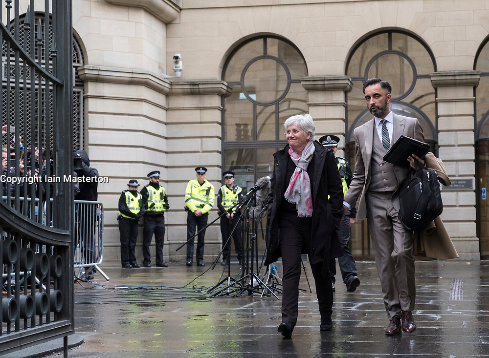 Edinburgh, Scotland,UK. 28 March 2018.  former Catalonia Education Minister and independence supporter Clara Ponsati leaves Edinburgh Sheriff Court after her bail hearing. Ponsati faces extradition to Spain. She was granted bail.