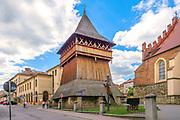 Drewniana dzwonnica bazyliki św. Mikołaja w Bochni.<br /> Wooden bell tower of St. Basil's Basilica. Nicholas in Bochnia.