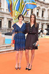 Left to right, Sam Rolinson and Charlotte Wiggins at the Royal Academy of Arts Summer Exhibition Preview Party 2017, Burlington House, London England. 7 June 2017.