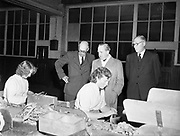 15th October 1952<br /> <br /> P.J. Carroll and Co. Ltd tobacco factory, Dundalk. Visit of Sean MacEntee, Minister for Finance, to the Factory.  Picture shows (l-r):  Mr. M. Kerley, Factory Manager;  Minister MacEntee and  Mr. Walther J. Carroll, Director.