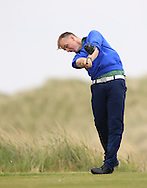 Thomas Mulligan (Co. Louth) on the 9th tee during Round 1 of the East of Ireland Amateur Open Championship at Co. Louth Golf Club, Baltray on Saturday 30th May 2015.<br /> Picture:  Thos Caffrey / www.golffile.ie