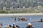 San Diego, California. USA. General Views, Crews boating from the beach. 2013 Crew Classic Regatta, Mission Bay.  11:12:54.  Saturday  06/04/2013   [Mandatory Credit. Peter Spurrier/Intersport Images]  ..