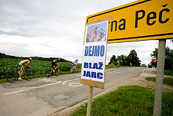 Sign at Slovenian National Championships in Road cycling, 178 km, on June 28 2009, in Mirna Pec, Slovenia. (Photo by Vid Ponikvar / Sportida)