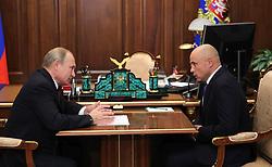 October 2, 2018 - Moscow, Russia - October 2, 2018. - Russia, Moscow. - Russian President Vladimir Putin and Acting Governor of Lipetsk Region Igor Artamonov (right) during a meeting. (Credit Image: © face to face via ZUMA Press)