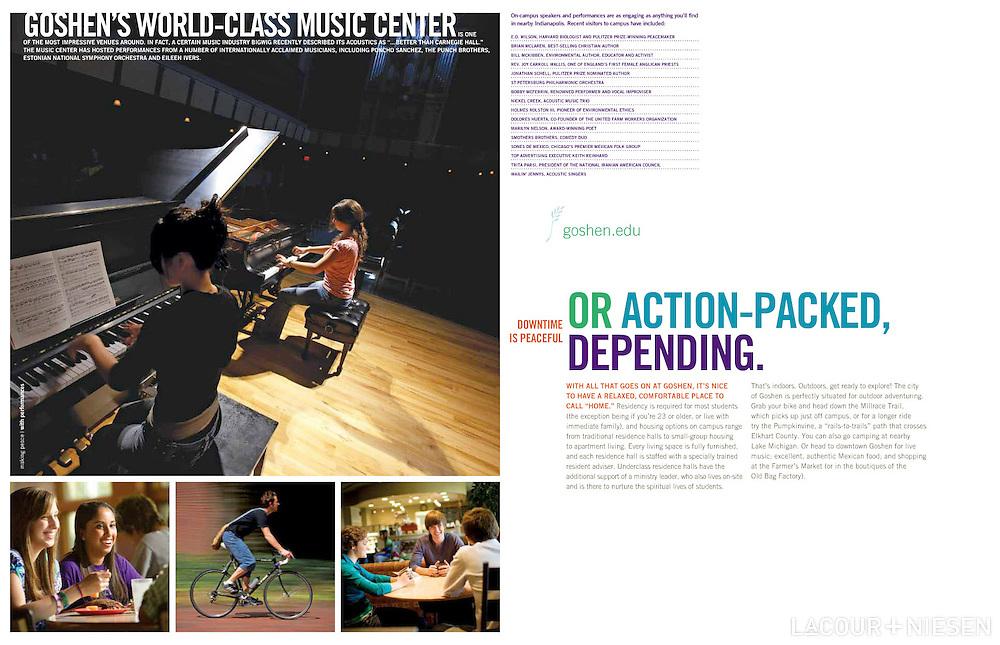 Community Book for Goshen College, Goshen, Ind. Design by Mindpower Inc. (www.mindpowerinc.com)