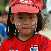England's get the support of local children