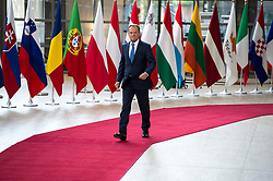 April 29, 2017 - Brussels, Bxl, Belgium - Donald Tusk , the president of the European Council talks to the press prior to the European Summit on Art. 50 , Brexit at European Council headquarters in Brussels, Belgium on 29.04.2017 by Wiktor Dabkowski (Credit Image: © Wiktor Dabkowski via ZUMA Wire)