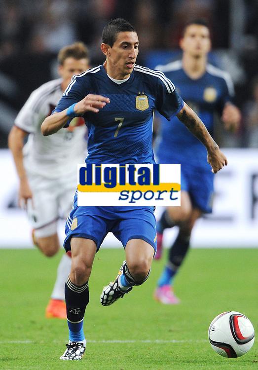 Fotball<br /> Tyskland v Argentina<br /> Privatlandskamp<br /> 03.09.2014<br /> Foto: Witters/Digitalsport<br /> NORWAY ONLY<br /> <br /> Angel di Maria (Argentinien)<br /> Fussball, Testspiel, Deutschland - Argentinien 2:4