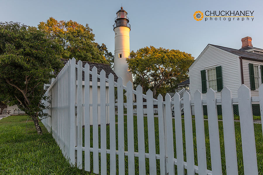 Historic lighthouse in Key West, Florida, USA