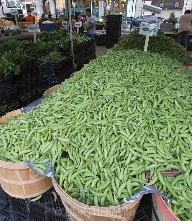 Snap Peas for Sale at Union Square Market in Manhattan