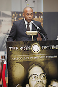 Londell McMillian at The 84th Birthday Celebration for Malcolm X and the Memorializing and Marking, for the First Time, the Location in Audubon Ballroom Where He Was Martyred in 1965.