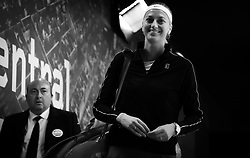 May 8, 2019 - Madrid, MADRID, SPAIN - Petra Kvitova of the Czech Republic on her way to the court for her third-round match at the 2019 Mutua Madrid Open WTA Premier Mandatory tennis tournament (Credit Image: © AFP7 via ZUMA Wire)
