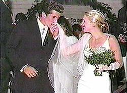 ©1996 RAMEY PHOTO AGENCY 310-828-3445VIDEOGRAM OF JFK JR. WEDDING HANDOUT PHOTO. 1996PR (Mega Agency TagID: MEGAR130098_2.jpg) [Photo via Mega Agency]