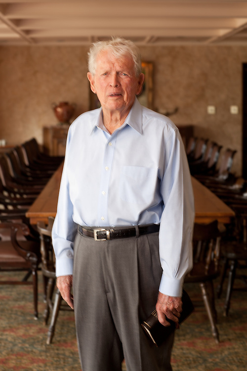 HOUSTON, TX - March 7: Portrait of Jack Burke, Jr. Photographed at Champions Golf Club in Houston, Texas on March 7, 2011. Photograph © 2011 Darren Carroll