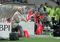 """PORTUGAL - PORTO 28 FEBRUARY 2005: GIOVANNI TRAPATTONI SL Benfica coach, in the 23 leg of the Portuguese soccer league """"Super Liga"""" FC Porto (1) vs SL Benfica (1), held in """"Dragao"""" stadium  28/02/2005  21:11:20<br />(PHOTO BY: NUNO ALEGRIA/AFCD)<br /><br />PORTUGAL OUT, PARTNER COUNTRY ONLY, ARCHIVE OUT, EDITORIAL USE ONLY, CREDIT LINE IS MANDATORY AFCD-PHOTO AGENCY 2004 © ALL RIGHTS RESERVED"""