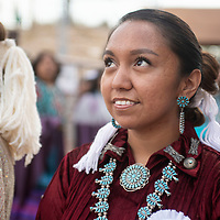 Ashley Reine Claw minutes before she is crowned the 2018-2019 Miss Gallup Inter-Tribal Ceremonial Queen at Red Rock Park, Friday August 10, 2018.