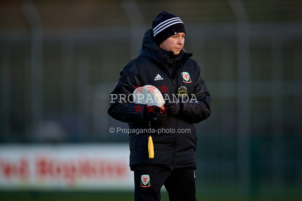 CARDIFF, WALES - Wednesday, January 16, 2019: Wales' manager Jayne Ludlow during a training session at Dragon Park ahead of the International Friendly game against Italy. (Pic by David Rawcliffe/Propaganda)