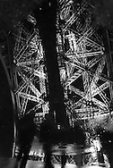 France. paris. 7th district.  the Eiffel tower, la tour Eiffel , reflets dans l'eau
