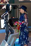Koningin Maxima krijgt een rondleiding over de tentoonstelling Humania in het NEMO Science Museum. <br /> <br /> Queen Maxima will be given a tour of the Humania exhibition at the NEMO Science Museum.