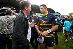 Gareth Milasinovich of Worcester Warriors meets fans - Mandatory by-line: Robbie Stephenson/JMP - 18/05/2019 - RUGBY - Sixways Stadium - Worcester, England - Worcester Warriors v Saracens - Gallagher Premiership Rugby