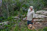 Ryan Anderson and his dog, Quoia, hiking in the La Sal Moutnains in southeast Utah.