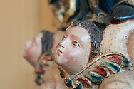 Barranco. Detail of a wooden sculpture in the Museum De Osma