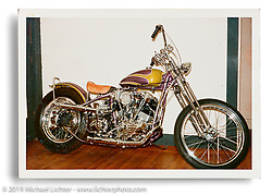 Custom Knucklehead by Arlen Ness' close friend, riding partner and early mentor Harry Brown, who gave Arlen many paint tips when he was first learning. Hayward, CA.  c.1965 Ness Family Archive Photo