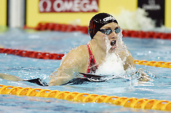 BEIJING, Nov. 11, 2017  Katinka Hosszu of Hungary competes during the women's 200m individual medley final at the FINA Swimming World Cup Beijing in Beijing, China, Nov. 11, 2017. Katinka Hosszu claimed the title of the event in 2 minutes and 04.64 seconds. (Credit Image: © Ju Huanzong/Xinhua via ZUMA Wire)