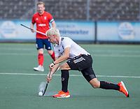 AMSTELVEEN -  Luke  Dommershuijzen (Amsterdam)  tijdens de hockey hoofdklasse competitiewedstrijd  heren, Amsterdam-HC Tilburg (3-0).  COPYRIGHT KOEN SUYK