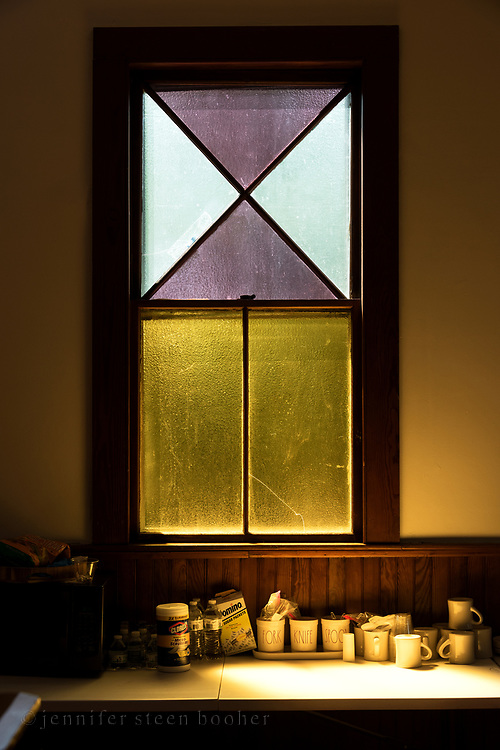 """Window 4 on plan. 43"""" wide x 72.5"""" tall  including trim<br /> Tremont Baptist Church, Seal Cove, Maine."""
