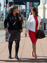 © Licensed to London News Pictures. 27/09/2015. Brighton, UK. New Shadow health secretary  HEIDI ALEXANDER (left) and GLORIA DEL PIERO MP (right) arriving on Day one of the 2015 Labour Party Conference, held at the Brighton Centre in Brighton, East Sussex. This years conference takes place just weeks after Jeremy Corbyn was elected leader of the party. Photo credit: Ben Cawthra/LNP