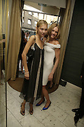 Diana Kamalova and Natalia Vodianova, Natalia Vodianova and Elle Macpherson host a dinner in honor of Francisco Costa (creative Director for women) and Italo Zucchelli (creative director for men)  of Calvin Klein. Locanda Locatelli, 8 Seymour St. London W1. ONE TIME USE ONLY - DO NOT ARCHIVE  © Copyright Photograph by Dafydd Jones 66 Stockwell Park Rd. London SW9 0DA Tel 020 7733 0108 www.dafjones.com