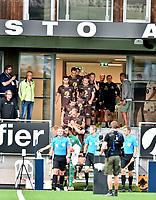 Fotball , 22. august 2020 , Eliteserien , Mjøndalen - Rosenborg 0-2<br /> illuastrasjon , innmarsj fra ny garderobe og tribune