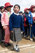 El Alto primary school. Assembly.