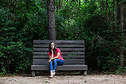 Jackie Chambers, former Houston Texans cheerleader, poses for a portrait at East End Park in Kingwood, TX Wednesday May 23, 2018.