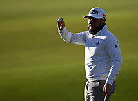 Golf - 2021 Alfred Dunhill Links Championship - Day Four - The Old Course at St Andrew's - Day Four -  Sunday 3rd October 2021<br /> <br /> Tyrell Hatton on the 18th<br /> <br /> Credit: COLORSPORT/Bruce White