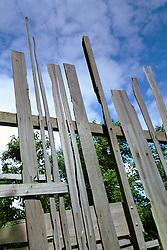 Fence made from reclaimed timber. Design: James Fraser