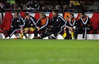 Photo: Paul Thomas.<br />PSV Eindhoven v Liverpool. UEFA Champions League, Quarter Final, 1st Leg. 03/04/2007.<br /><br />The Liverpool Bench with Craig Bellamy (2nd R).