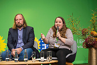 DEU, Deutschland, Germany, Berlin, 24.11.2018: Anton Hofreiter, Chairman of the Parliamentary Group of Alliance 90 / The Greens in the German Parliament, Ricarda Lang, Spokesperson for Grüne Jugend. Council of the European Green Party (EGP council) at Deutsche Telekom Representative Office.