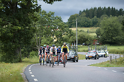 The break builds up a healtht lead at the Crescent Vargarda - a 152 km road race, starting and finishing in Vargarda on August 13, 2017, in Vastra Gotaland, Sweden. (Photo by Sean Robinson/Velofocus.com)