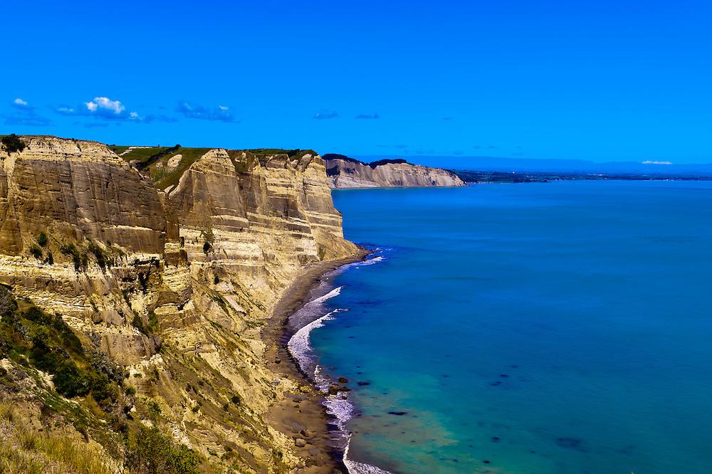 Cape Kidnappers, near Napier, Hawke's Bay region, North Island, New Zealand.