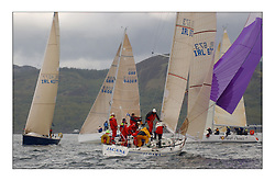 Yachting- The first days inshore racing  of the Bell Lawrie Scottish series 2003 at Tarbert.  Light shifty winds dominated the racing...IRL673, Jacana, Class 2..Pics Marc Turner / PFM
