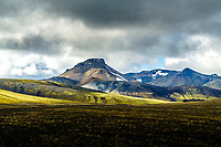 The mountains Rauðufossafjöll in the range <br /> at Fjallabak in the highlands of south Iceland