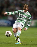 Football - 2013 / 2014 Champions League - Qualifying, Play-Off Round, Second Leg: Celtic vs. Shakhter Karagandy<br /> <br /> Kris Commons of Celtic in action during the Celtic and Shakhter Karagandy Champions League qualification match at Parkhead Stadium, Glasgow on August 28th August 2013.<br /> <br /> Ian MacNicol/Colorsport