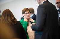 DEU, Deutschland, Germany, Berlin, 12.03.2019: CDU-Chefin Annegret Kramp-Karrenbauer vor Beginn der Fraktionssitzung der CDU/CSU.