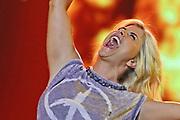 """Auftritt von Beatrice Egli bei der SRF-Pop-Schlager-Show """"Hello Again"""". Aufzeichnung vom 14. April 2019 in den Fernsehstudios Zürich."""