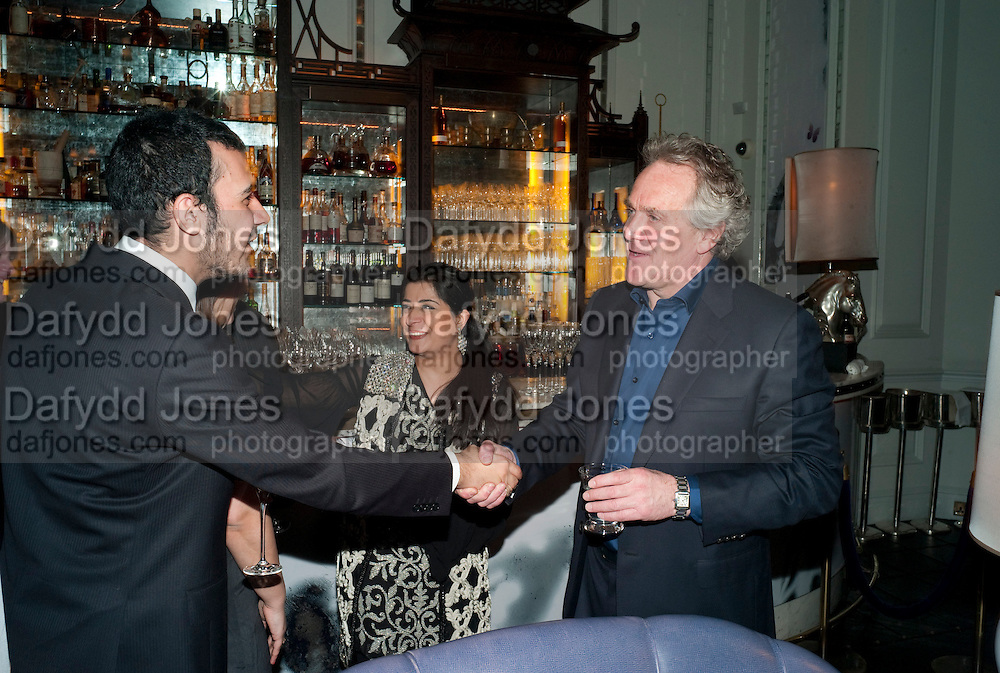 ZULFIKAR ALI BHUTTO; SABEEN JATOI; HENRY PORTER, Henry Porter hosts a launch for Songs of Blood and Sword by Fatima Bhutto. The Artesian at the Langham London. Portland Place. 15 April 2010. *** Local Caption *** -DO NOT ARCHIVE-© Copyright Photograph by Dafydd Jones. 248 Clapham Rd. London SW9 0PZ. Tel 0207 820 0771. www.dafjones.com.<br /> ZULFIKAR ALI BHUTTO; SABEEN JATOI; HENRY PORTER, Henry Porter hosts a launch for Songs of Blood and Sword by Fatima Bhutto. The Artesian at the Langham London. Portland Place. 15 April 2010.