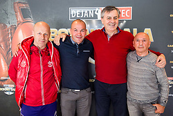 Dejan Zavec, Tadija Kačar and Stane Milutinovic during Official weighting ceremony one day before Dejan Zavec Boxing Gala event in Laško, on April 20, 2017 in Thermana Lasko, Slovenia. Photo by Vid Ponikvar / Sportida