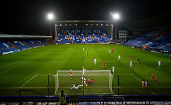 BIRKENHEAD, ENGLAND - Tuesday, September 29, 2020: Liverpool's Luis Longstaff scores the second goal, to level the score at 2-2, during the EFL Trophy Northern Group D match between Tranmere Rovers FC and Liverpool FC Under-21's at Prenton Park. (Pic by David Rawcliffe/Propaganda)